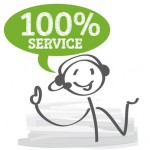 Service bei der Firma Tor- und Zaunsysteme, Bild Strichmännchen